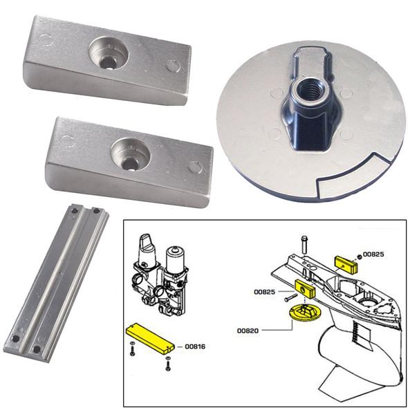 Tecnoseal Anode Kit w\/Hardware - Mercury Verado 4 - Aluminum [20814AL]