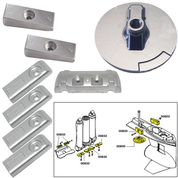 Tecnoseal Anode Kit w\/Hardware - Mercury Verado 6 - Aluminum [20816AL]