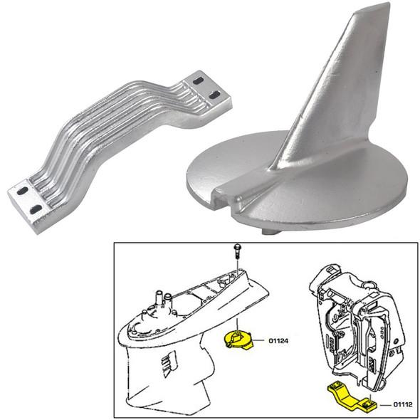 Tecnoseal Anode Kit - Yamaha 200-250HP - Zinc [21104]