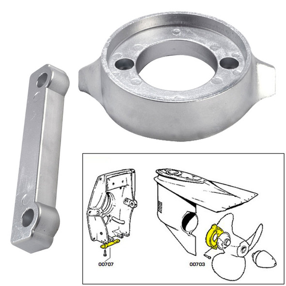 Tecnoseal Anode Kit w\/Hardware - Volvo 280 - Magnesium [20701MG]