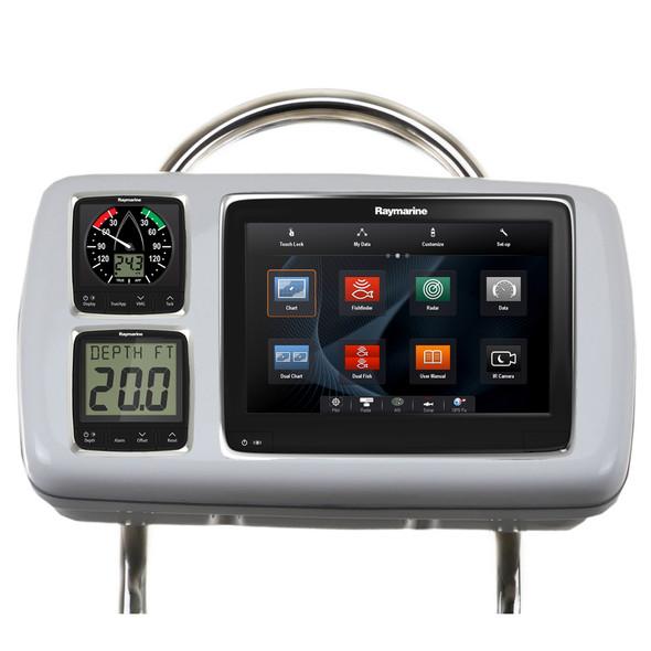 """NavPod GP2080-14 SystemPod Pre-Cut f/Raymarine a95/a97/a98 & 2 Instruments f/12"""" Wide Guard [GP2080-14]"""