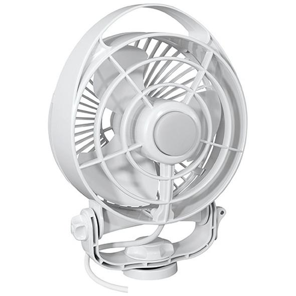 "Caframo Maestro 12V 3-Speed 6"" Marine Fan w/LED Light - White [7482CAWBX]"
