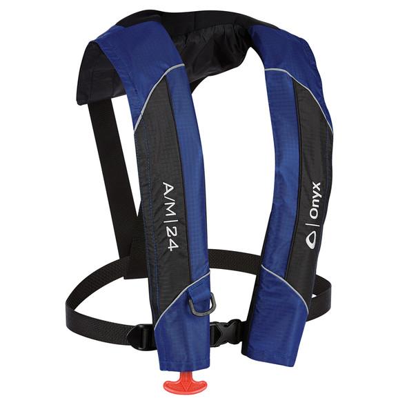 Onyx A/M-24 Automatic/Manual Inflatable PFD Life Jacket - Blue [132000-500-004-15]
