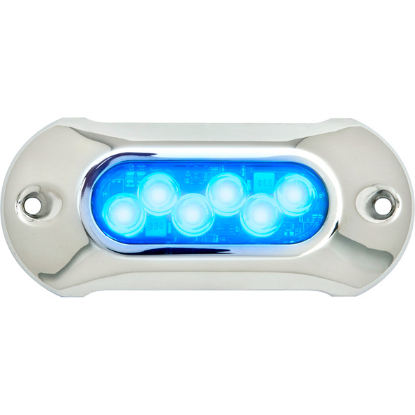 Attwood Light Armor Underwater LED Light - 6 LEDs - Blue [65UW06B-7]