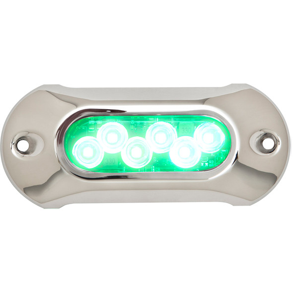 Attwood Light Armor Underwater LED Light - 6 LEDs - Green [65UW06G-7]