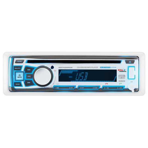 Boss Audio MR762BRGB Single DIN Bluetooth Enabled In-Dash MP3/CD/CDRW/AM/FM Receiver [MR762BRGB]