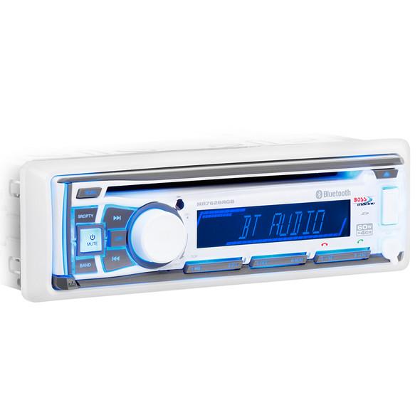 Boss Audio MR762BRGB Single DIN Bluetooth Enabled In-Dash MP3\/CD\/CDRW\/AM\/FM Receiver [MR762BRGB]