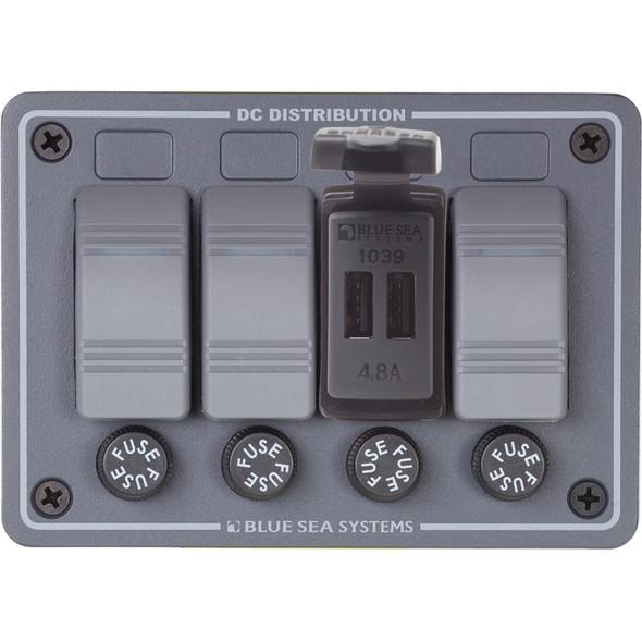 Blue Sea Dual USB Charger - 24V Contura Mount [1039]