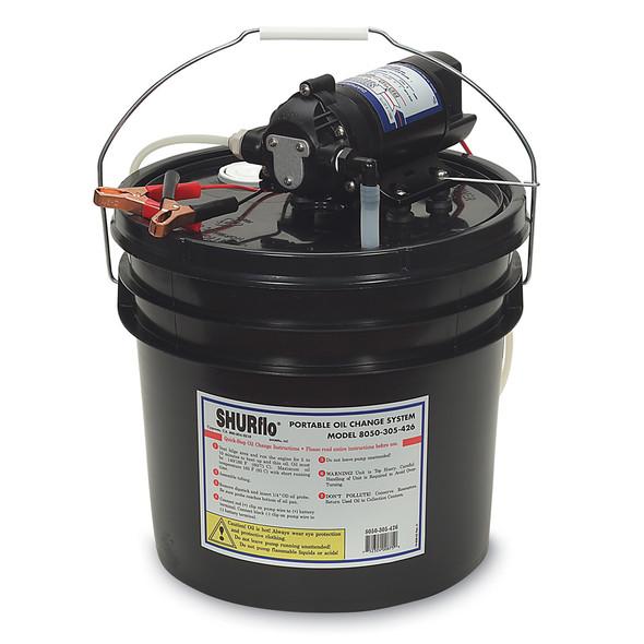 SHURFLO Oil Change Pump w/3.5 Gallon Bucket - 12 VDC, 1.5 GPM [8050-305-426]