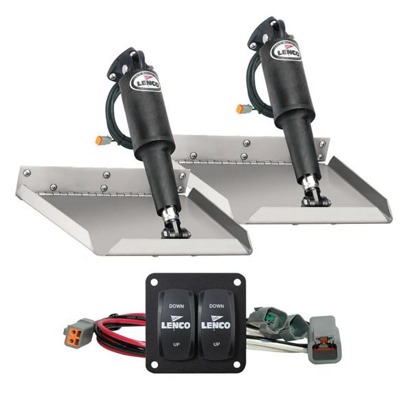 "Lenco 12"" x 12"" Edge Mount Trim Tab Kit w/Double Rocker Switch Kit [15102-104]"