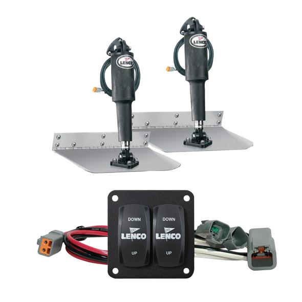"Lenco 12"" x 12"" Standard Trim Tab Kit w/Double Rocker Switch Kit [15103-104]"