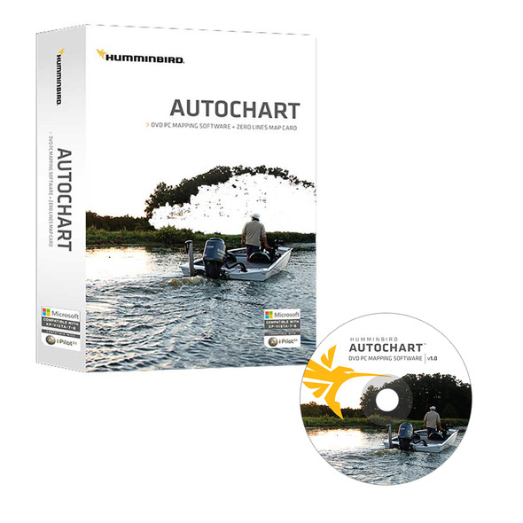 Humminbird Autochart DVD PC Mapping Software w/Zero Lines Map Card [600031-1]