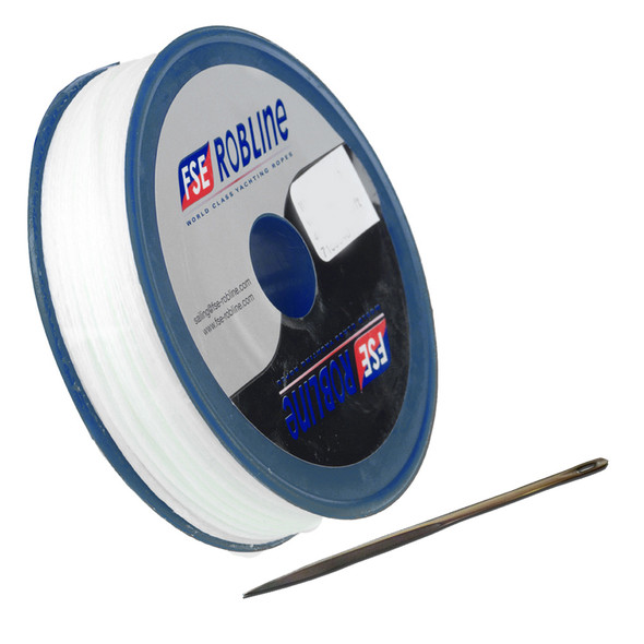 FSE Robline Waxed Tackle Yarn Whipping Twine Kit w/Needle - White - 0.8mm x 80M [TY-KITW]