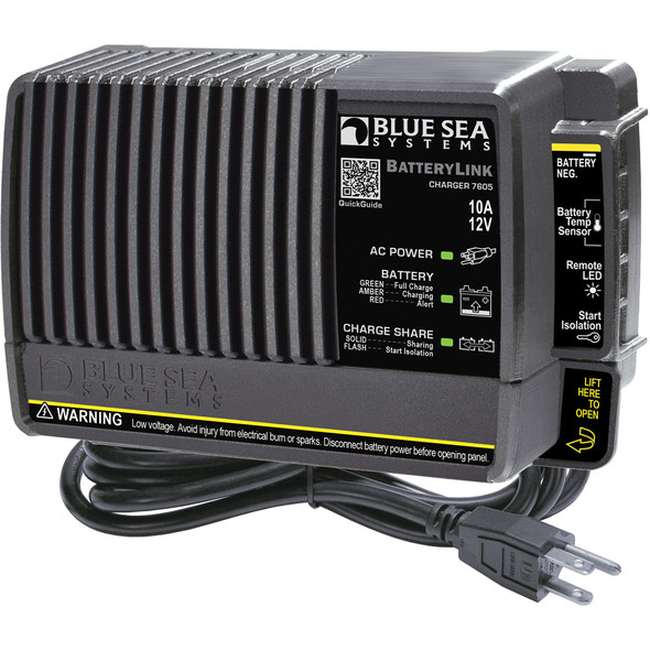 Blue Sea 7605 BatteryLink Charger - 10Amp - 2-Bank [7605]