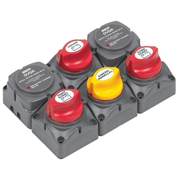 BEP Battery Distribution Cluster f/Twin Outboard Engines w/Three Battery Banks [717-140A-DVSR]