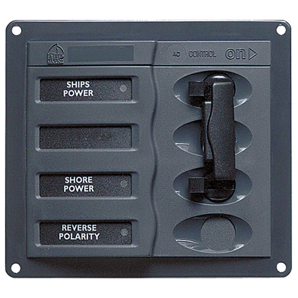 BEP AC Circuit Breaker Panel without Meters, 2DP AC230V Stainless Steel [900-ACCH]