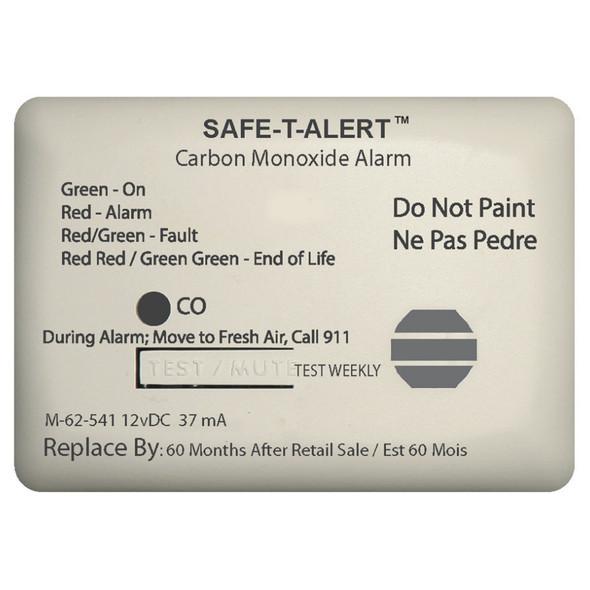 Safe-T-Alert 62 Series Carbon Monoxide Alarm - 12V - 62-541-Marine Surface Mount - White [62-541-MARINE]