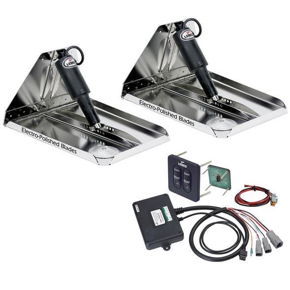 "Lenco 12"" x 12"" Heavy Duty Performance Trim Tab Kit w/Standard Tactile Switch Kit 12V [RT12X12HD]"