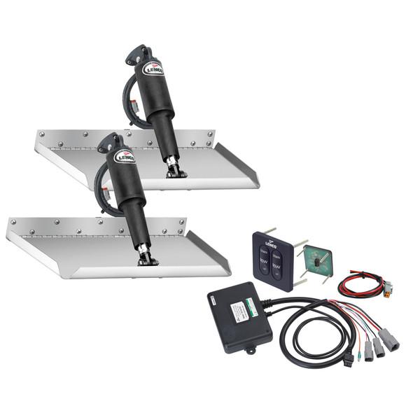 "Lenco 12"" x 12"" Edgemount Trim Tab Kit w/Standard Tactile Switch Kit 12V [15106-102]"