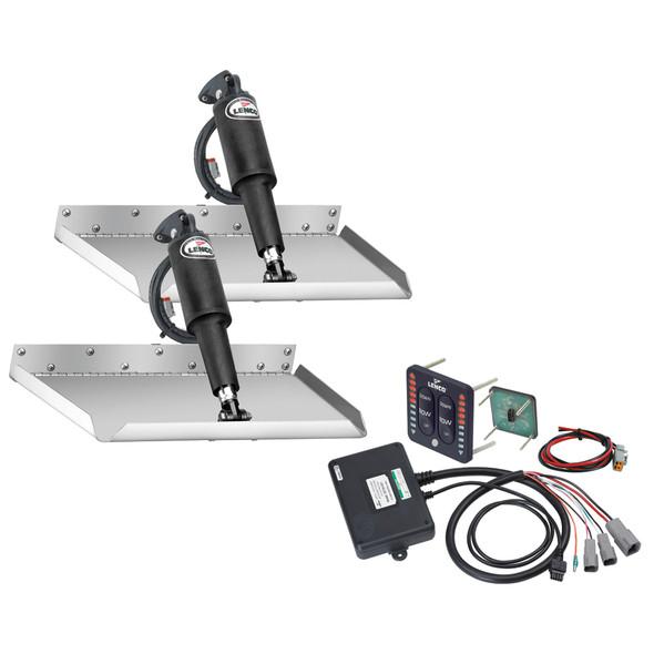 "Lenco 12"" x 12"" Edgemount Trim Tab Kit w\/LED Indicator Switch Kit 12V [15110-103]"