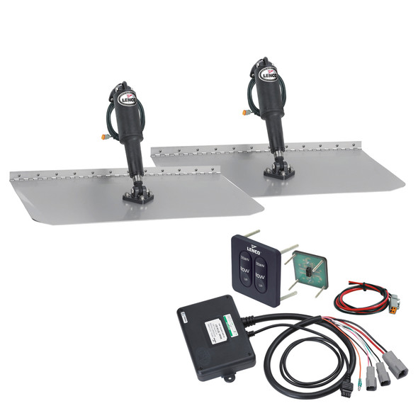 "Lenco 12"" x 18"" Standard Trim Tab Kit w/Standard Tactile Switch Kit 12V [TT12X18]"