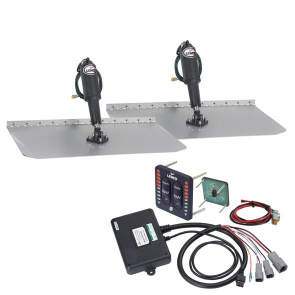 """Lenco 12"""" x 18"""" Standard Trim Tab Kit w/LED Indicator Switch Kit 12V [TT12X18I]"""