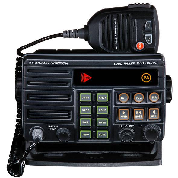 Standard Horizon VLH-3000A 30W Dual Zone PA/Loud Hailer/Fog w/Listen Back & 2 Optional Intercom Stations [VLH-3000A]