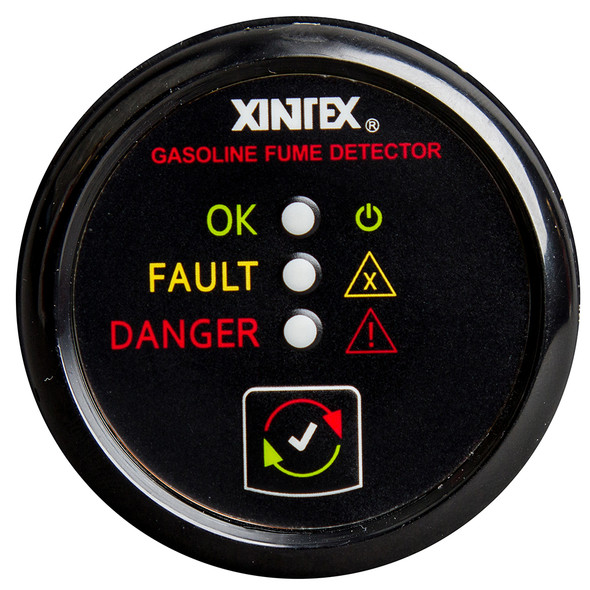 Xintex Gasoline Fume Detector & Alarm w/Plastic Sensor - Black Bezel Display [G-1B-R]