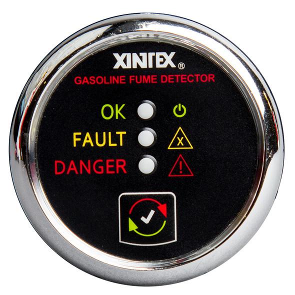 Xintex Gasoline Fume Detector & Alarm w/Plastic Sensor - Chrome Bezel Display [G-1C-R]