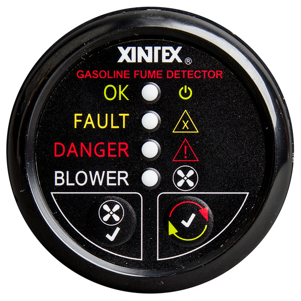 Xintex Gasoline Fume Detector & Blower Control w/Plastic Sensor - Black Bezel Display [G-1BB-R]