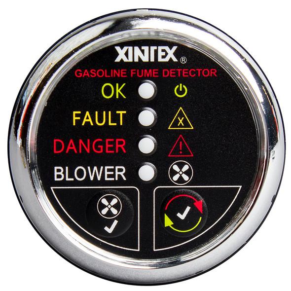 Xintex Gasoline Fume Detector & Blower Control w/Plastic Sensor - Chrome Bezel Display [G-1CB-R]