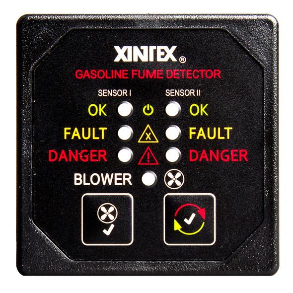 Xintex Gasoline Fume Detector & Blower Control w/2 Plastic Sensors - Black Bezel Display [G-2BB-R]
