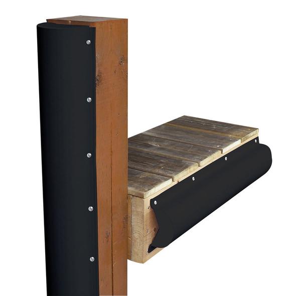 Dock Edge Piling Bumper - One End Capped - 6' - Black [1020-B-F]