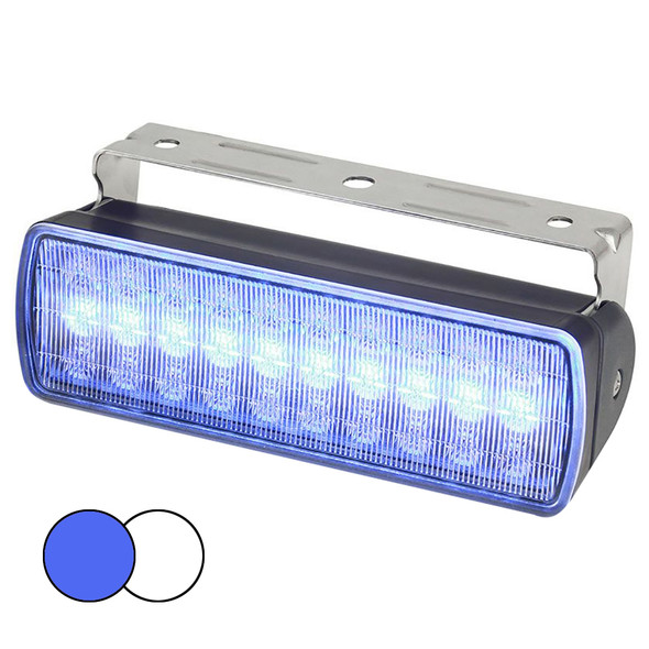 Hella Marine Sea Hawk XL Dual Color LED Floodlights - Blue/White LED - Black Housing [980950061]