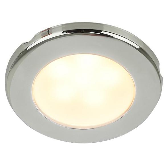 "Hella Marine EuroLED 75 3"" Round Screw Mount Down Light - Warm White LED - Stainless Steel Rim - 12V [958109021]"