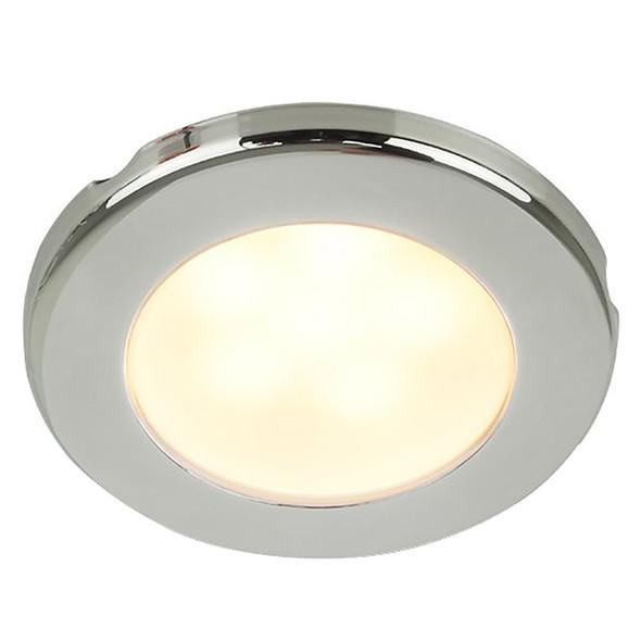 "Hella Marine EuroLED 75 3"" Round Screw Mount Down Light - Warm White LED - Stainless Steel Rim - 24V [958109121]"