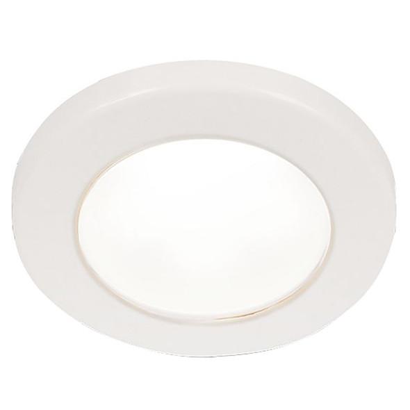 """Hella Marine EuroLED 75 3"""" Round Screw Mount Down Light - White LED - White Plastic Rim - 12V [958110011]"""