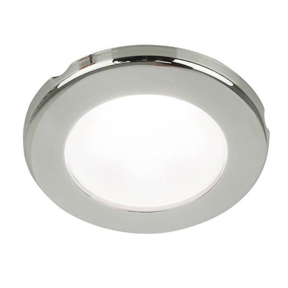 "Hella Marine EuroLED 75 3"" Round Screw Mount Down Light - White LED - Stainless Steel Rim - 12V [958110021]"