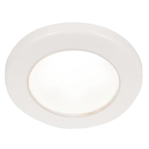 """Hella Marine EuroLED 75 3"""" Round Screw Mount Down Light - White LED - White Plastic Rim - 24V [958110111]"""