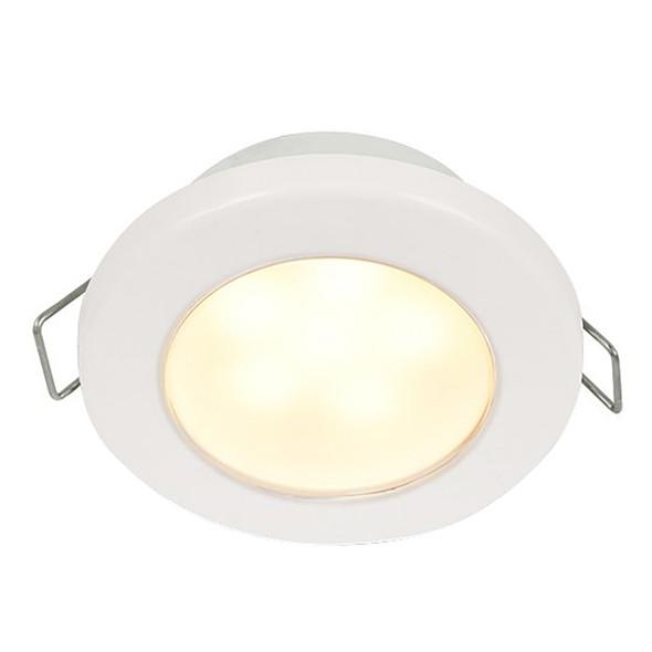"Hella Marine EuroLED 75 3"" Round Spring Mount Down Light - Warm White LED - White Plastic Rim - 12V [958109511]"