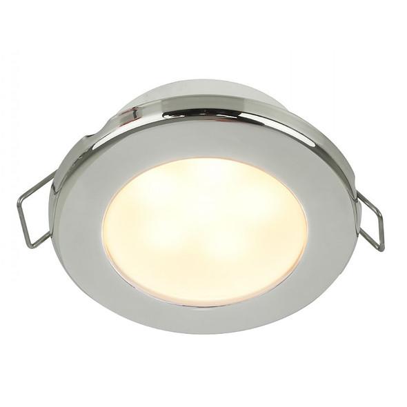 "Hella Marine EuroLED 75 3"" Round Spring Mount Down Light - Warm White LED - Stainless Steel Rim - 12V [958109521]"