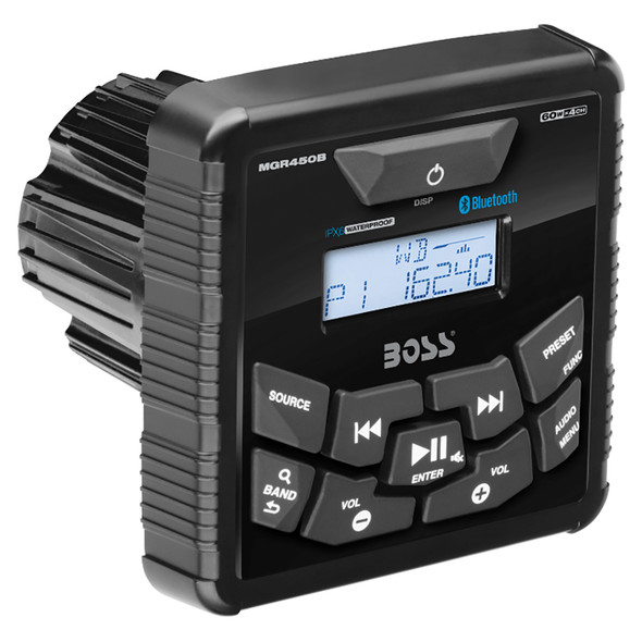 Boss Audio MGR450B In-Dash Marine Gauge Digital Media Bluetooth Audio Streaming AM/FM Receiver [MGR450B]