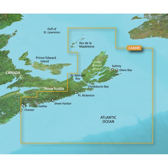 Garmin BlueChart g3 Vision HD - VCA005R - Halifax - Cape Breton - microSD/SD [010-C0691-00]