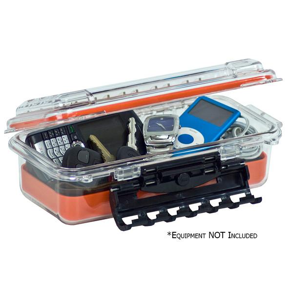 Plano Waterproof Polycarbonate Storage Box - 3500 Size - Orange/Clear [145000]