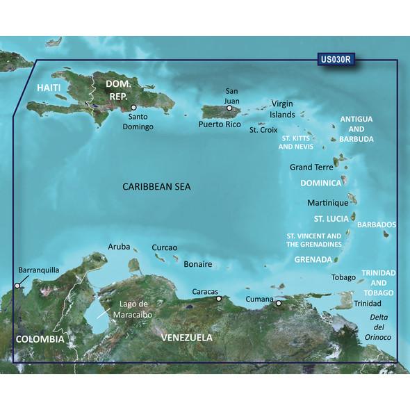 Garmin BlueChart g2 Vision HD - VUS030R - Southeast Caribbean - microSD/SD [010-C0731-00]