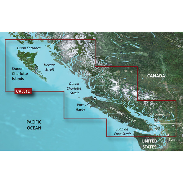 Garmin BlueChart g3 Vision HD - VCA501L - Vancouver Island - Dixon Entrance - microSD/SD [010-C0701-00]