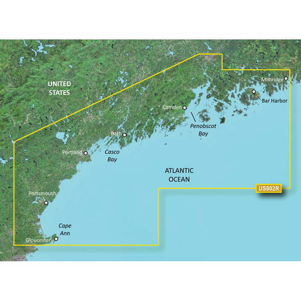 Garmin BlueChart g2 Vision HD - VUS002R - South Maine - microSD\/SD [010-C0703-00]