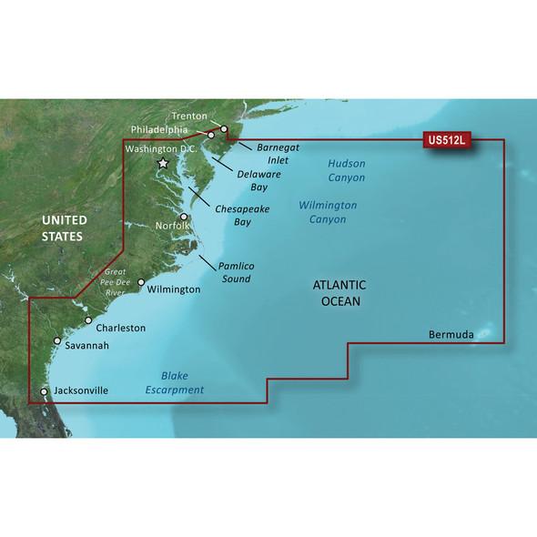 Garmin BlueChart g3 Vision HD - VUS512L - Mid-Atlantic - microSD/SD [010-C0741-00]