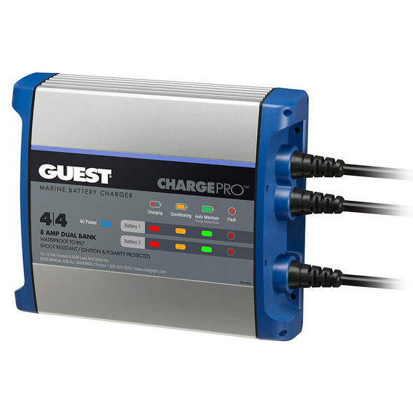 Guest On-Board Battery Charger 8A / 12V - 2 Bank - 120V Input [2707A]