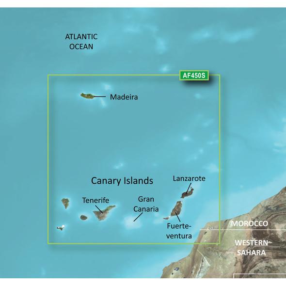 Garmin BlueChart g2 Vision HD - VAF450S - Madeira & Canary Islands - microSD/SD [010-C0750-00]